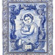 Ancient portuguese tiles with saint john - Stock Photo