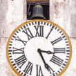 Stock Photo: Old tower clock and bell