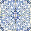 Stock Photo: Vintage portuguese blue tiles