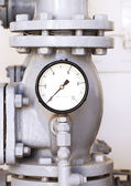 Vintage water pressure gauge — Stock Photo