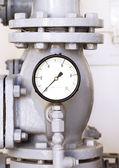 Vintage water pressure gauge — Stock Photo
