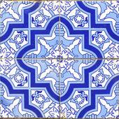 Vintage portuguese blue tiles — Stock Photo