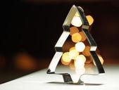 Christmas tree baking tin — Stock Photo