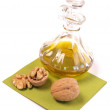 Stock Photo: Walnuts with oil
