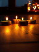 Four candle lights — Stock Photo