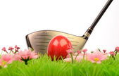 Easter golfing — Stock Photo