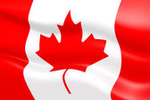 3d flag of Canada — Stock Photo
