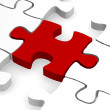 Red piece of puzzle — Stock Photo