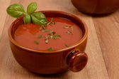 Mediterranean tomato soup — Stock Photo