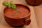 Mediterranean tomato soup — Stock Photo