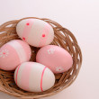 Stock Photo: Pink Easter eggs