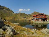 Balea Lake background — Stock Photo