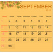 September 2013 — Vector de stock #12419306