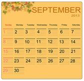 September 2013 — Stock Vector