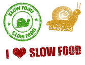 Slow food stamps — Stock Vector