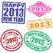 2013 new year stamps — Stock Vector