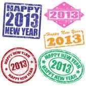 2013 yeni yıl pullar — Stok Vektör