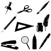 Set of office tools icons — Stock Vector