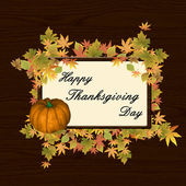 Happy thanksgiving day background — Stock Vector