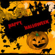 Happy Halloween grunge background — Vector de stock