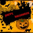 Stock Vector: Happy Halloween grunge background