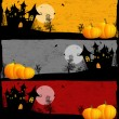 Halloween grunge banners — Stock Vector