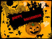 Happy Halloween grunge background — Stock Vector