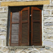 Closed wooden shutters — Stock Photo