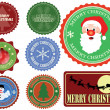 Set of Christmas labels — Vettoriali Stock