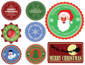 Set of Christmas labels — Stock Vector