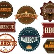 Set of barbeque labels — Stock Vector #13585512