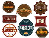 Set of barbeque labels — Stock Vector