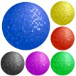 Set of colorful disco balls - Stock Vector