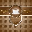 Menu with a cup of coffee — Imagen vectorial