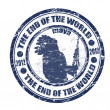 The End of the World stamp — Stock Vector