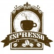 Espresso grunge stamp — Stock Vector
