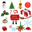 Stock Vector: Set of Christmas elements