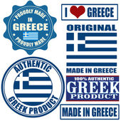 Made in Greece stamps and labels — Stock Vector