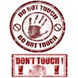 Do not touch stamps — Stock Vector