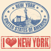 New York stamps — Vecteur