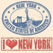 Timbres de new york — Vecteur