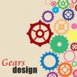 Gears background design — Stock Vector