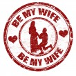 Stock Vector: Be my wife stamp