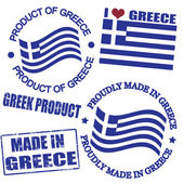 Product of Greece stamps — Stock Vector