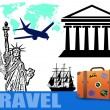 Traveling concept background - Stock Vector
