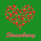 Love strawberry concept — Stock Vector
