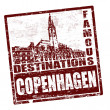 Copenhagen stamp — Stock Vector