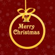Royalty-Free Stock Vektorgrafik: Red Christmas background with golden ball