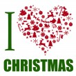 I love Christmas background - Stock Vector