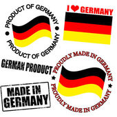 Product of Germany stamps — Stock Vector